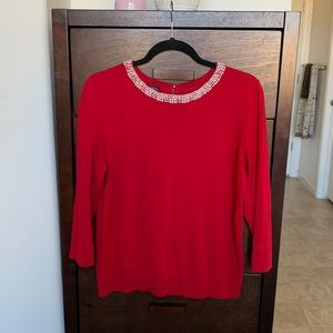 Talbots Sweater with Peal Accents